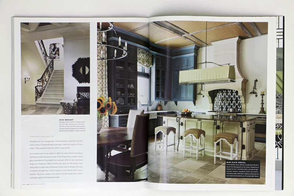 lux magazine feature home kitchen by Duncan Cabinetry